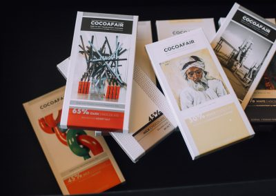 Cocoafair chocolates with bespoke Norval Foundation packaging